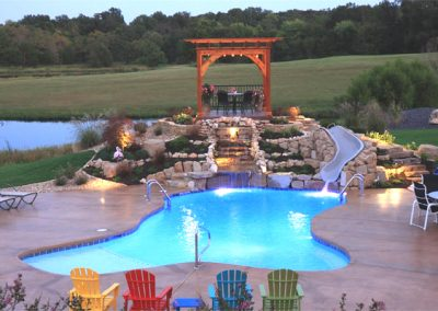 Gunite Residential Pool & Water Fall
