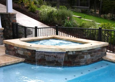 Gunite Spa & Water Fall