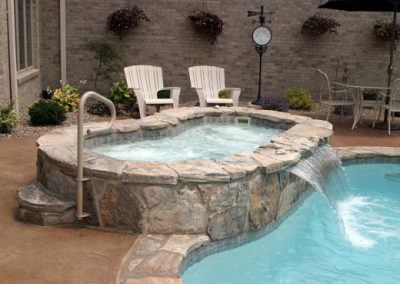 Gunite Spa with Water Fall